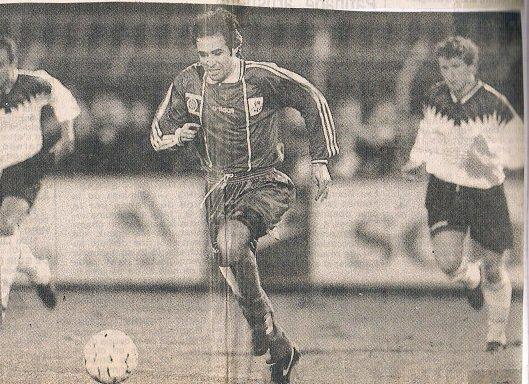 Jimmy Algérino, coupe de la ligue 1994/1995 (modèle porté uniquement contre Rennes et Le Havre en 8ème et quart de finale)