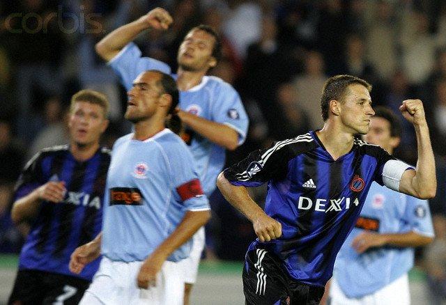 Eddy Viator coupe UEFA 2004/2005, 1er tour match aller à Bruges le 16/09/2004