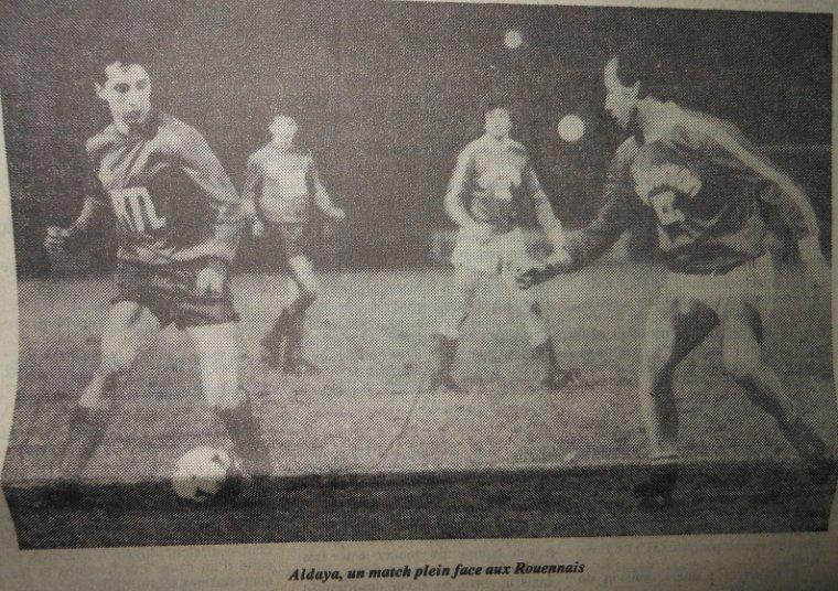 Jean-Luc Aubard, coupe de France 1983/1984, porté contre Rouen le 28/01/1984, 32ème de finale