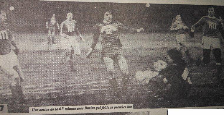 Jean-Luc Aubard, coupe de France 1982/1983, porté contre Rouen le 12/02/1983, 32ème de finale
