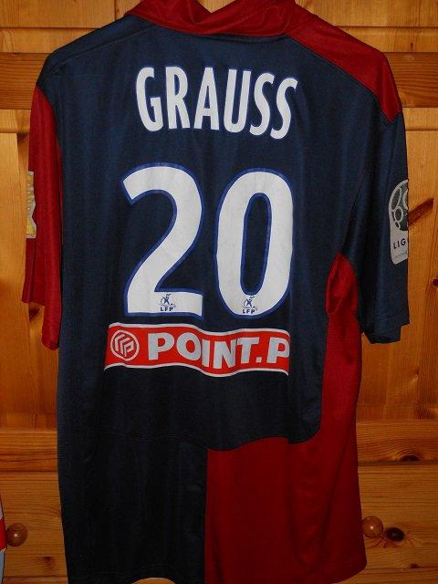 Antoine Grauss, 2008/2009, porté contre Nimes au 2ème tour de la coupe de la ligue, le 9 septembre 2008