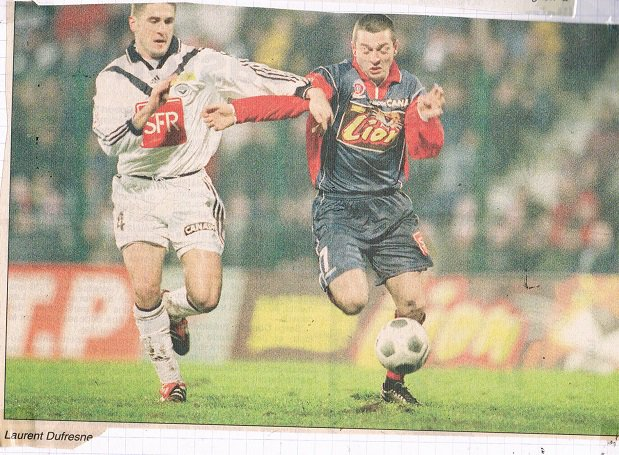 Rodolphe Roche, porté contre Bordeaux, coupe de la Ligue 2000/2001, 8ème  de finale, le 31 janvier 2001