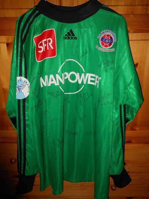 Rodolphe Roche, coupe de France 2001/2002 (porté à Lyon 19/01/2002, 16ème de finale, joueur resté sur le banc)