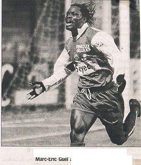 Marc-Eric Gueï, coupe de la ligue 2003/2004, 1er tour, porté à Istres, le 23 septembre 2003