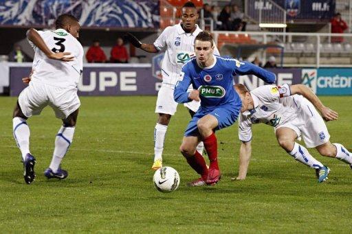 Yohan Hautcoeur, coupe de France 2011/2012 (à Auxerre, 16ème de finale 21/01/2012)