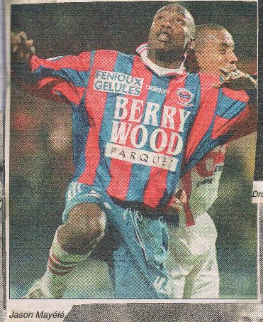 Jason Mayélé, 1997/1998, porté à Rennes en coupe de France, 32ème de finale le 18 janvier 1998
