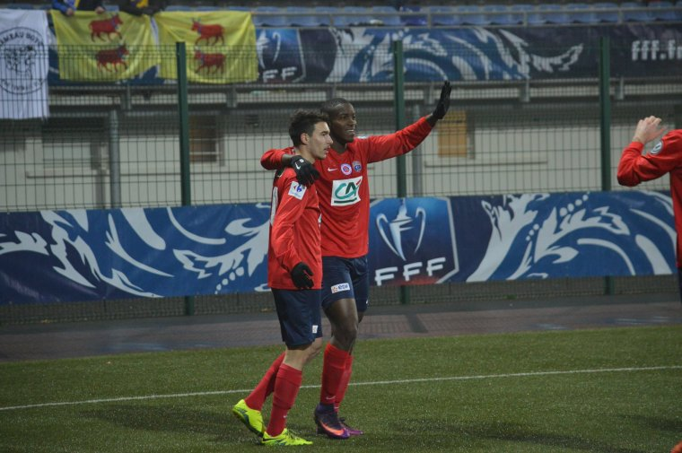 Cheick Traoré, coupe de France 2016/2017, 32ème de finale contre Pau le 08/01/2017