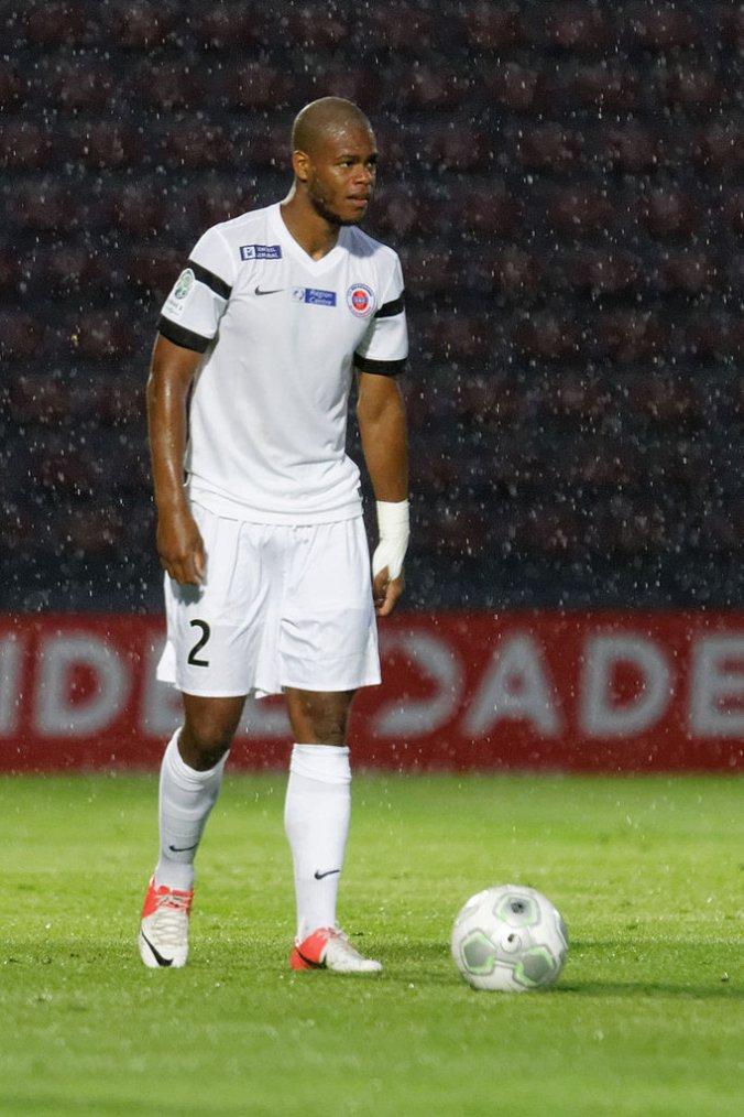 Cédric Hountondji, 2014/2015, porté au Gazelec Ajaccio le 31 octobre 2014