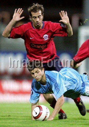 François Duhamel, coupe UEFA 2004/2005, 1er tour match retour contre Bruges le 30/09/2004