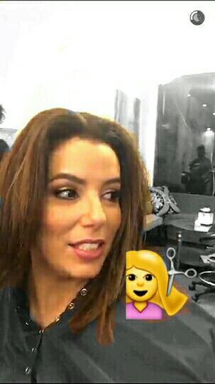 Eva Longoria chez le coiffeur