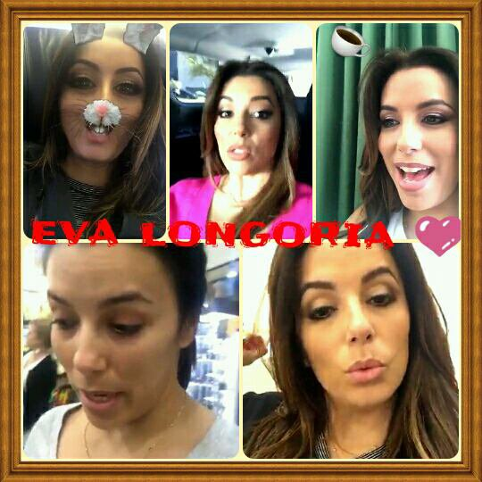 Eva longoria and snapchat