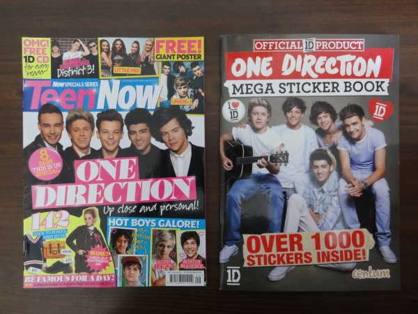 ♥ Il reste une biographie, 1 livre stickers, Teen vogue us, Teen now et stylos 1D, Look, Company, Seventeen us, Glamour uk...♥