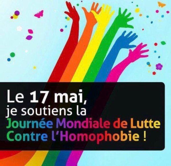 JOURNEE MONDIALE CONTRE L'HOMOPHOBIE