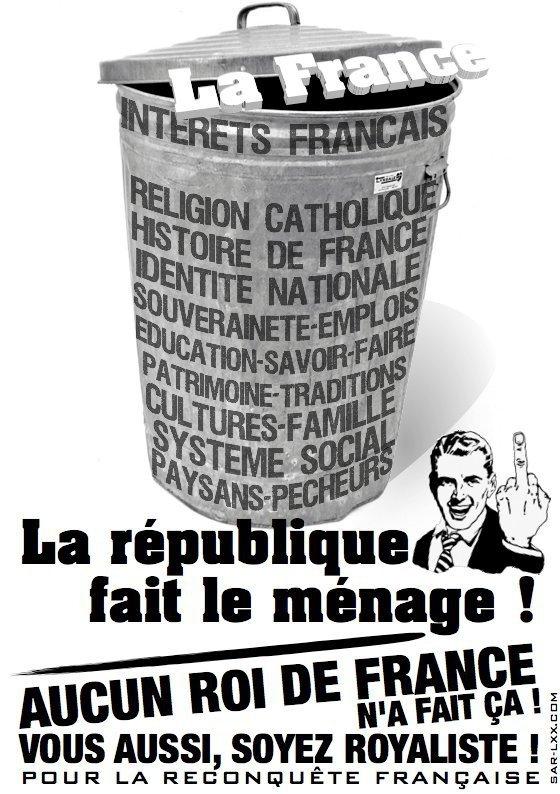 Depuis 2 siècles, la république détruit la France ! Réagissons !