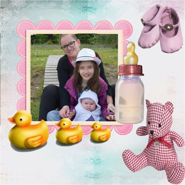 ma fille indiana et mes petites filles chiara et louaane