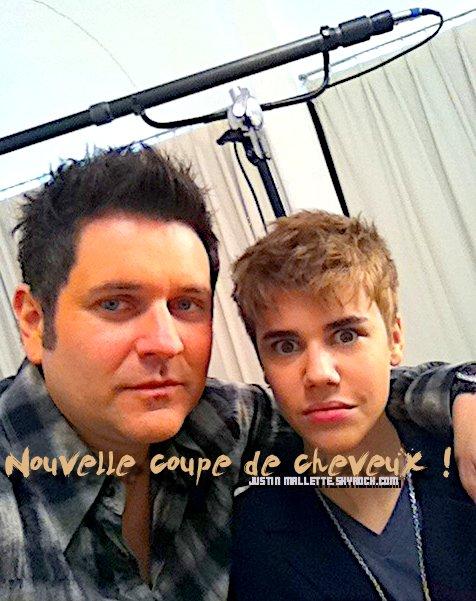 2I Février , via Twitter Justin est passé sous les ciseaux , et une nouvelle coupe à vu le jour !.
