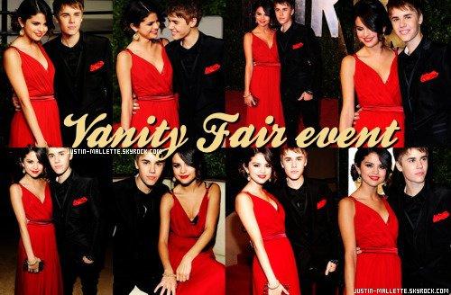 """28 Février , via Vanity Fair Oscars Party Selena Gomez et Justin on été vu posant ensemble comme un """" couple """" devant les paparazzis !"""