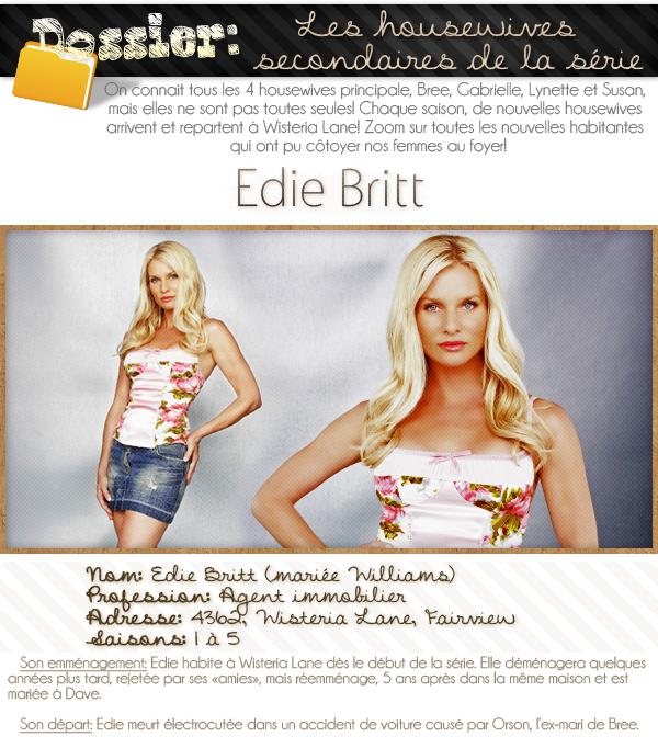 dossier sur les housewives secondaires; Edie Britt.
