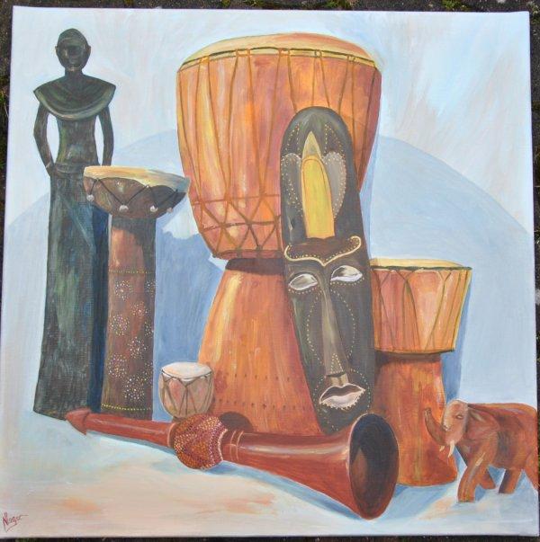 thème Musique Afrique Danse pour expo au Jazz en Ville en mars 2014