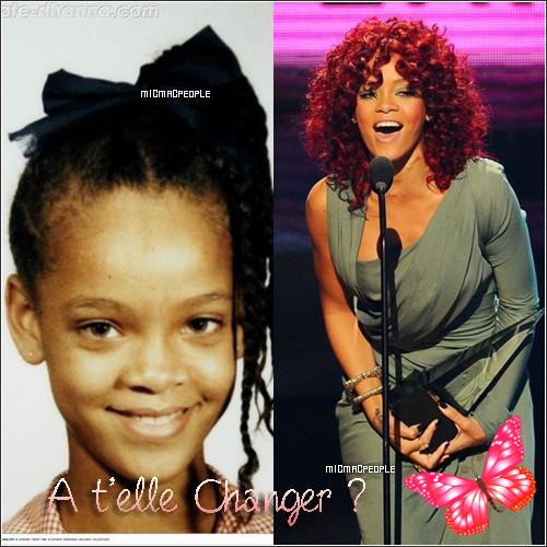 ₪ Evolution de La Diva , Rihanna , Alors pour toi elle à changer ou pas ? Mon avis ; Elle a Beaucoup changé et c'est une superbe Femme ! (: