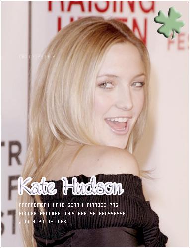 ₪ Kate Hudson  et Matthew Bellamy se seraient fiancés en secret lundi dernier en Angleterre. Une information qui reste à confirmer mais qui se justifie par la grossesse récemment officialisée de l'actrice américaine. On leurs Souhaite beaucoup de chance et de bonheur (: