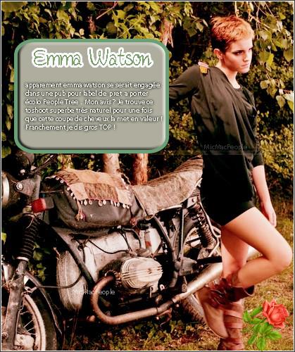 ₪ Emma Watson se dévoile dans une nouvelle publicité pour le label de prêt-à-porter écolo People Tree.