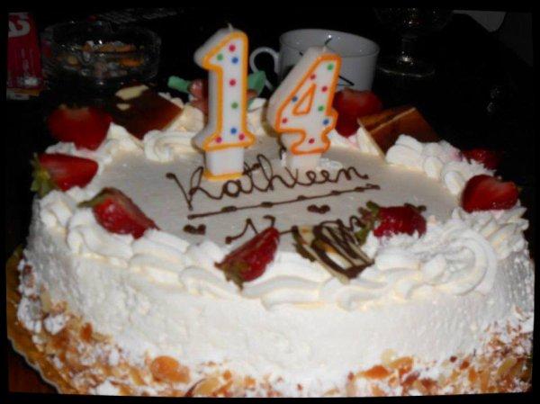 Mon gâteaux d'anniversaire (13/09/2013)