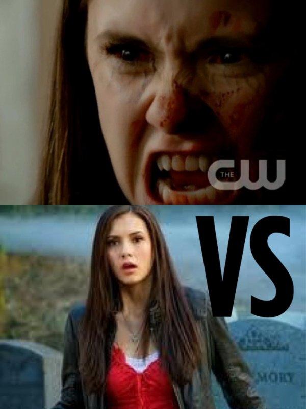 Vous préférer elena humaine ou vampire??
