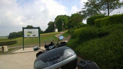 Sortie sur les plages du dday avec la new moto