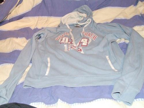 tee shirt bleu manche 3/4