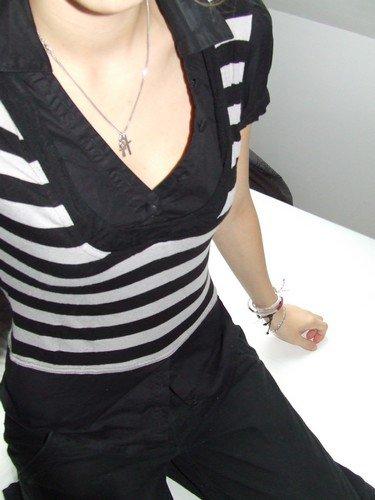 haut chemise noir et gris