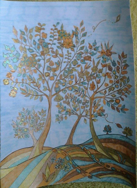 les feuilles dans le vent