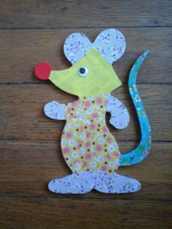 ma petite souris en decopatch