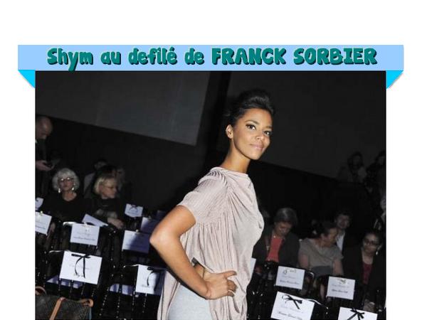 Shy au défilé de Franck Sorbier