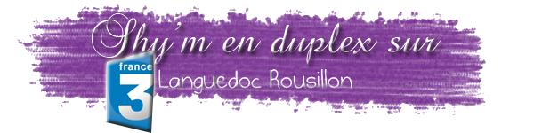 Shy'm en duplex de Paris pour l'emission France 3 Languedoc Rousillon