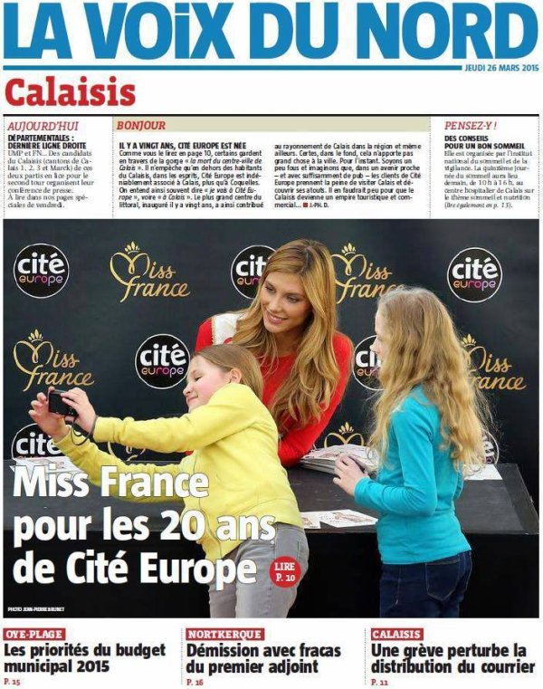 ღiss France 2015/ ex Miss France - Presse mars 2015 suite
