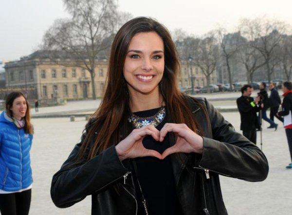 Marine Lorphelin - Marraine de la Course du Coeur