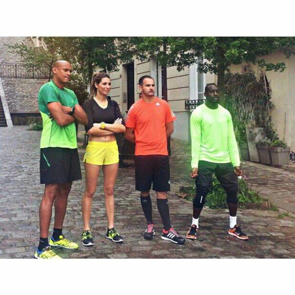 Laury Thilleman - Tournage defi run
