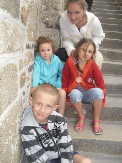 ma fille et,ses trois enfants