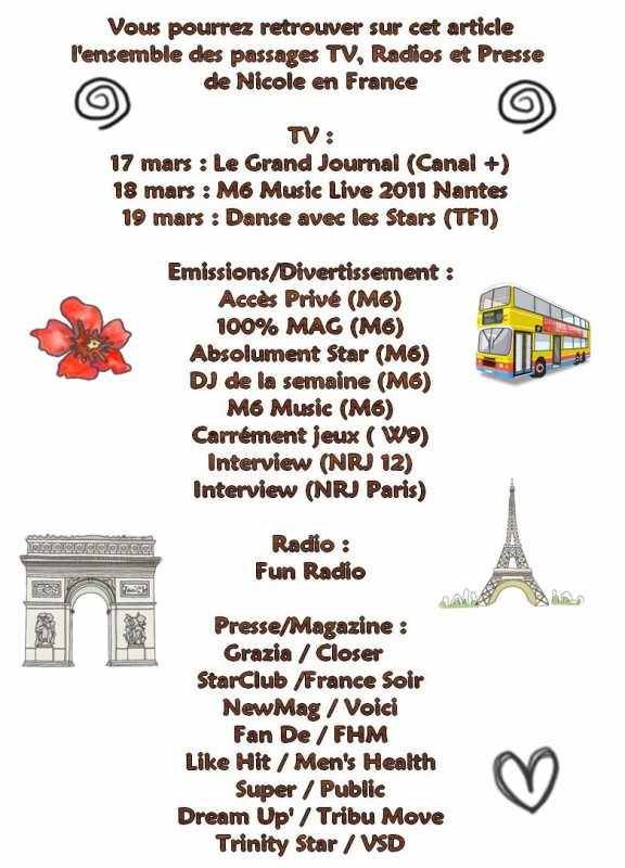 - Les Dates Francaises - ♥ Apparitions TV / Radio / Magazine ♥