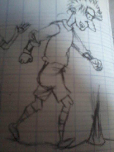 un joueur de foot marchant