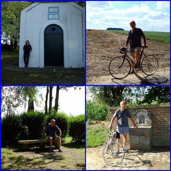Petite promenade à vélo d'une trentaine de kilomètres avec ma fille Marie-Laure...en partant de Roux...Courcelles, Viesville, Luttre, Pont-à-Celles, Gouy les Pietons, ca me manquait...mais ca va ...jai rien perdu de mon coup de pédales....super...!!