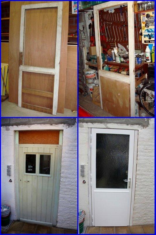 Petite restauration d'une tres vieille porte vouée au feu, mais entièrement reconditionnée pour remplacer l'ancienne de mon garage...reste quelque petites finitions....!