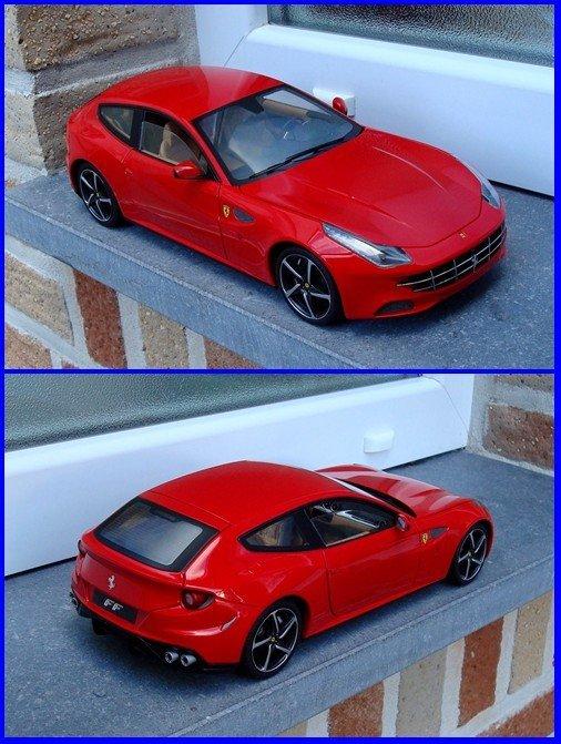 """Nouveautés Ferrari (en rouge) avec cette """"FF"""" au 1/18e et la 575 GTZ Zagato, pour ma collection perso..!"""