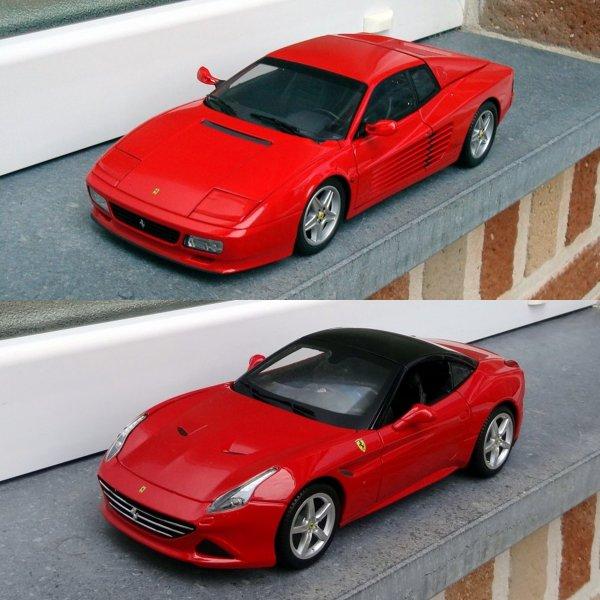 Les nouvelles Ferrari 1/18e dans ma collection...!