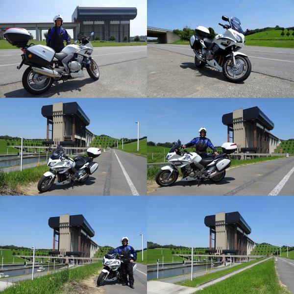Balade moto jusqu'à l'ascenseur à bateaux de Strépy-Thieu...!