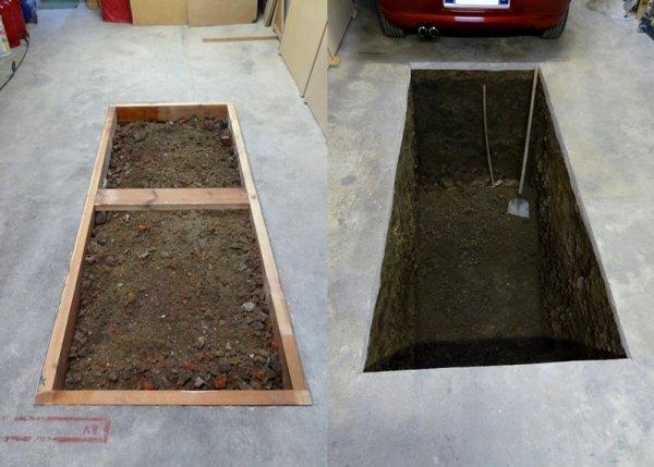 Construction d'une fosse dans mon garage...!