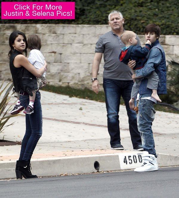Justin Bieber et Selena Gomez : Ils jouent à la famille parfaite