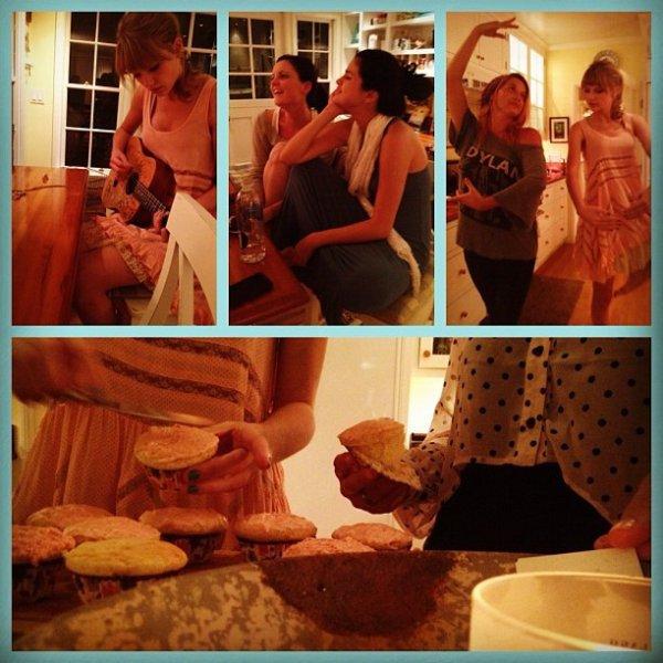 Selena Gomez cuisine des cupcakes avec Taylor Swift (photos)