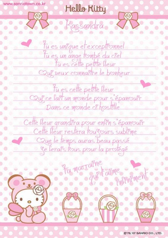 Poeme Dune Marraine A Sa Fieulle Blog De Miss Kitty59